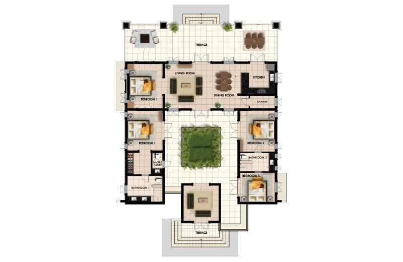 Plan of the villa luxe villa thailand for Plan de villa de luxe